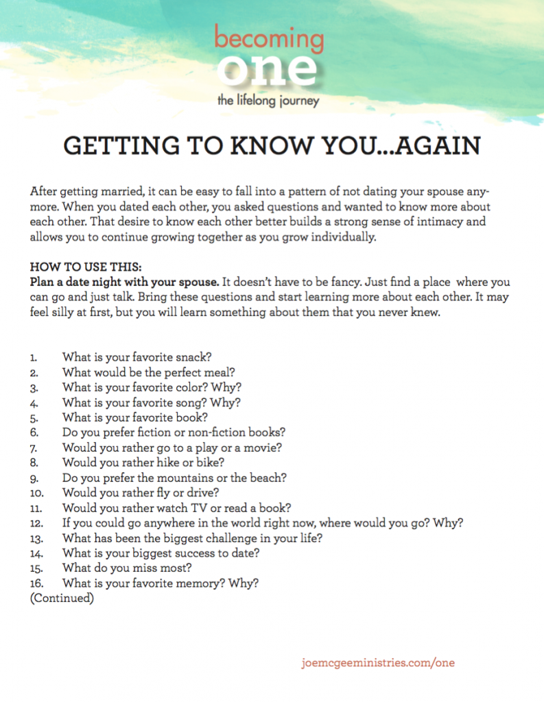 Dating Questions To Get To Know Each Other