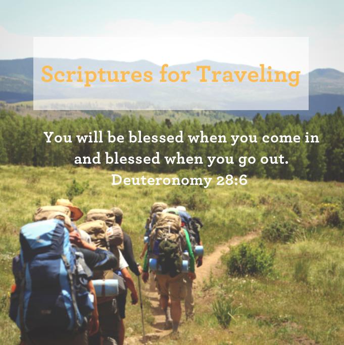 Scriptures for Traveling Mercies