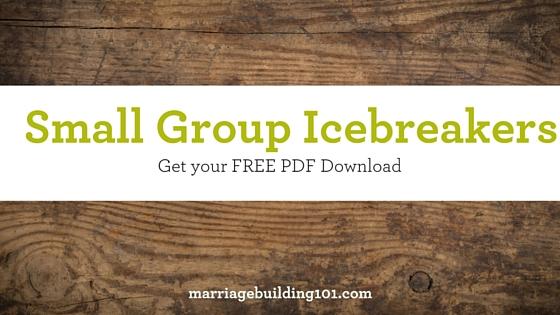 Small Group Icebreakers Ideas - Joe McGee Ministries